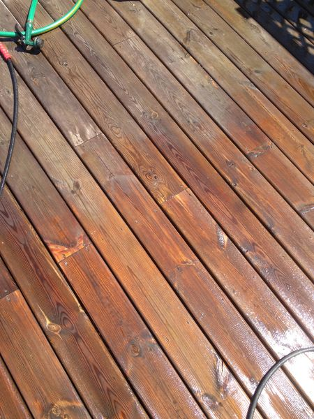 How And With What Do You Stain A Deck Once It Is Installed